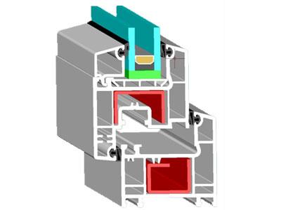材料商城_铝材/塑材/其它型材_塑门窗型材_白色型材_60系列内平开青白塑钢型材
